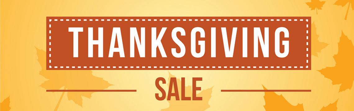 Thanksgiving weekend Sale