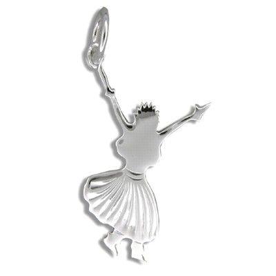 Sterling Silver Kahiko Hula Dancing III Pendant