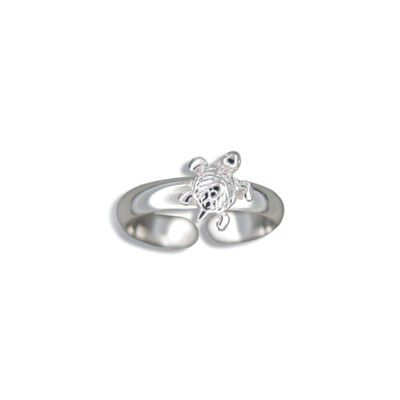 Sterling Silver Hawaiian Sea Turtle Design Toe Ring