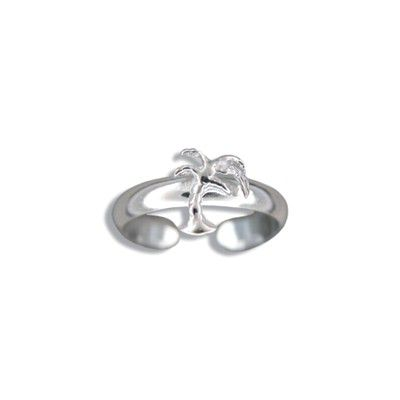 Sterling Silver Hawaiian Palm Tree Design Toe Ring