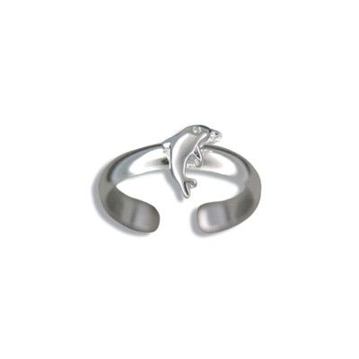 Sterling Silver Hawaiian Dolphin Design Toe Ring