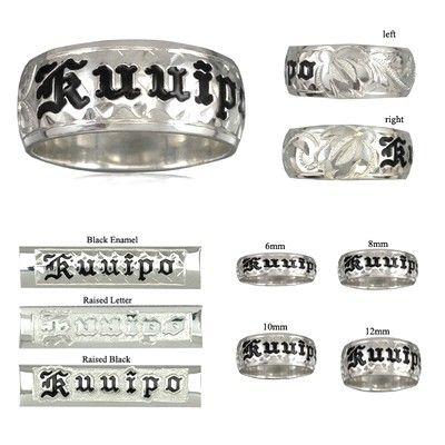 14K White Gold Custom Hawaiian Ring with Turtles