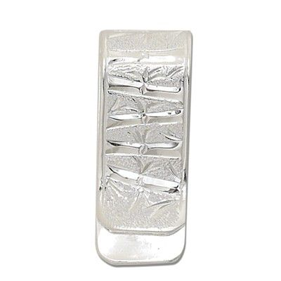 Sterling Silver Hawaiian Bamboo Design Money Clip