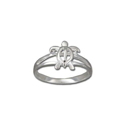 Sterling Silver Cut-Out Hawaiian HONU Ring