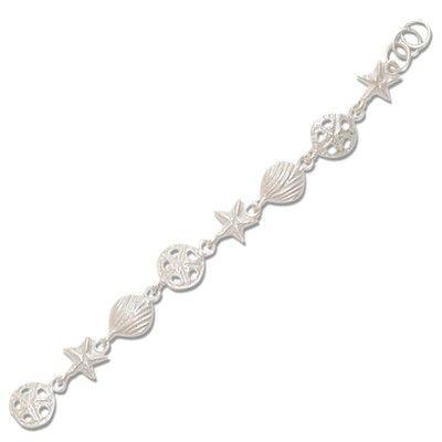 Sterling Silver Hawaiian Sea Life Design Bracelet