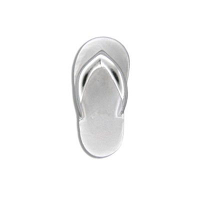 Sterling Silver Hawaiian Slipper Design Pendant (S)
