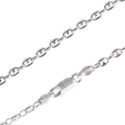 Sterling Silver 3mm Diamond Cut Anchor Chain 100