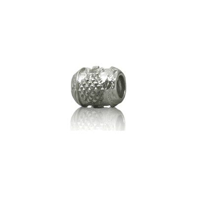 Sterling Silver Hawaiian Rhodium Pineapple Bead Charm
