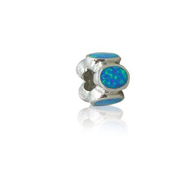 Blue Opal Charm bead for Pandora bracelet