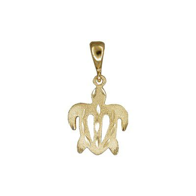 14kt Yellow Gold Honu Pendant (S)