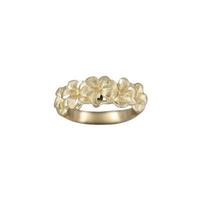 14kt Yellow Gold 7mm Plumeria Ring