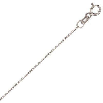Rhodium Sterling Silver Anchor Chain