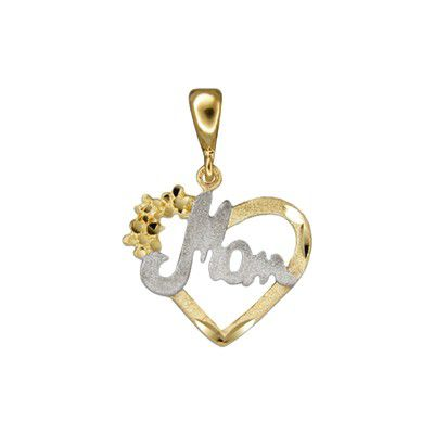 14kt Solid Gold Cut-Out Heart with