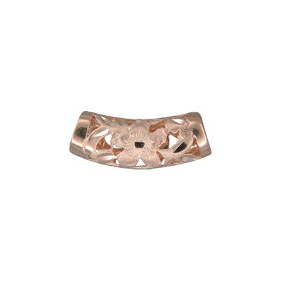 14kt Rose Gold Hawaiian Hand-Carved Curve Pendant
