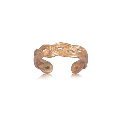 Sterling Silver Cut-Out Rope Design Toe Ring