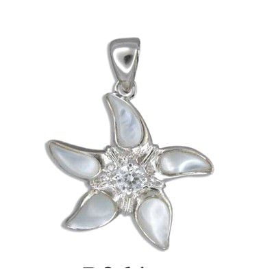 Sterling Silver Hawaiian Starfish White MOP Pendant