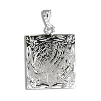 Sterling Silver Kahiko Moon Light Hula Dancer Pendant