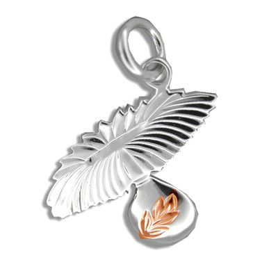 Sterling Silver Rose Gold Coated Kahiko Uli Uli Pendant