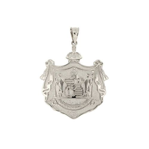 Sterling Silver Hawaiian Coat of Arms Pendant