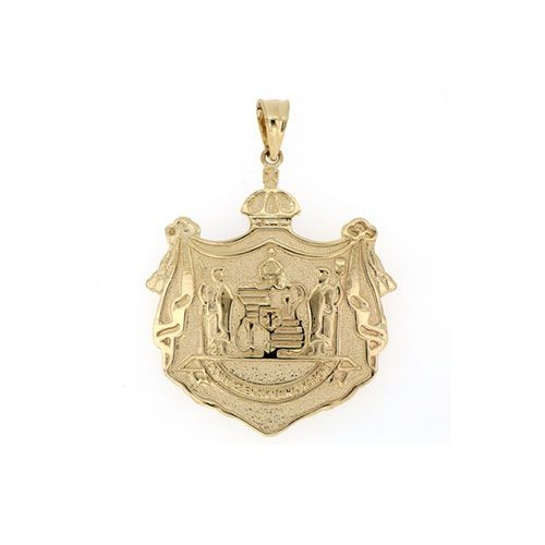 14KT Yellow Gold Hawaiian Coat of Arms Pendant