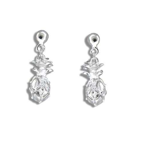 Sterling Silver Hawaiian (S) Pineapple Dangling Earrings