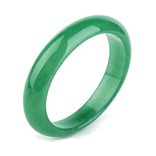 All Around Solid Green Jade Bangle
