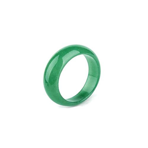 All Around Solid Green Jade Ring