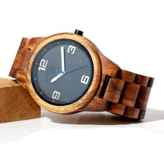 Solid Hawaiian Koa Wood Men's Pono Watch