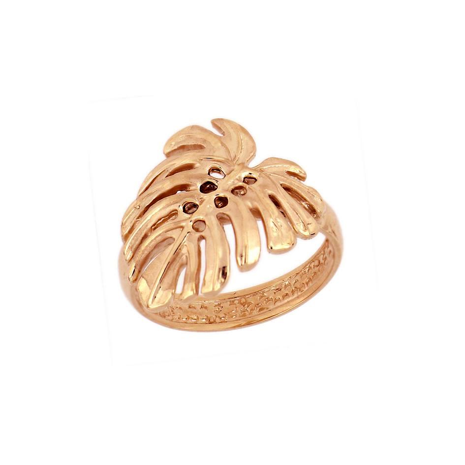 14KT Rose Gold Hawaiian Monstera Leaf Ring