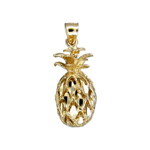 14kt Gold Hawaiian Medium Pineapple Pendant