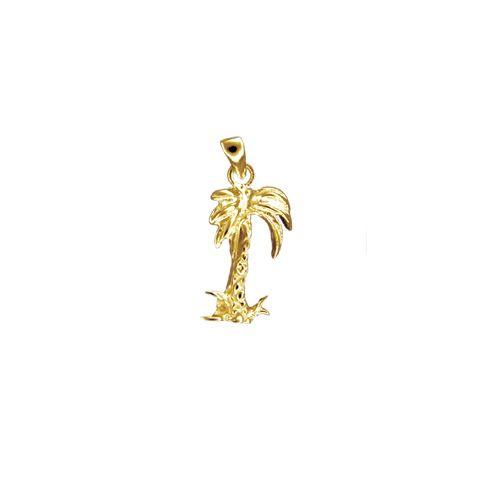 14kt Gold Hawaiian Plam Tree Pendant