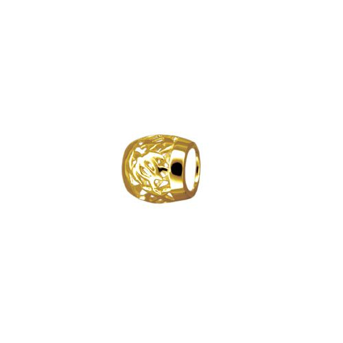 14kt Yellow Gold Cut-In Hawaiian HONU Lucky Barrel Pendant