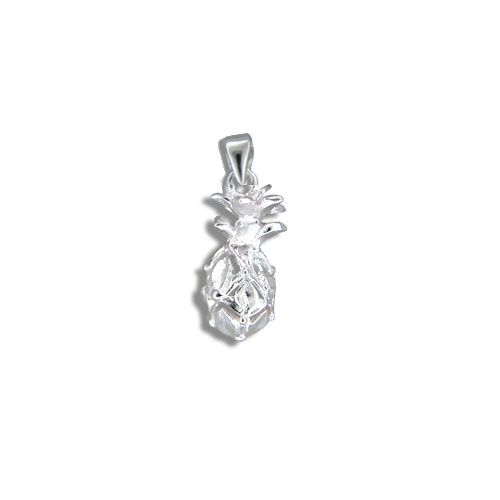 Sterling Silver Hawaiian Pineapple Pendant (S)