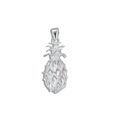 Sterling Silver Hawaiian Pineapple Pendant (M)