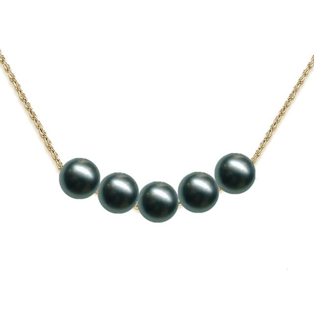 Tahitian Pearl and 14KT Gold Rope Necklace