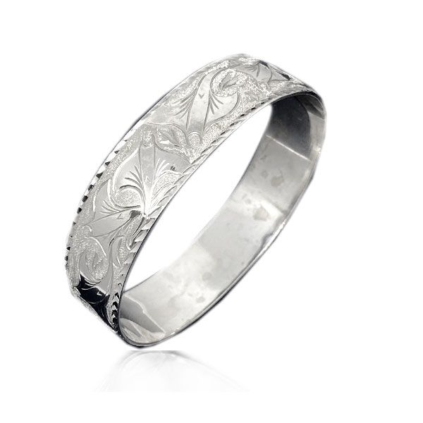 Sterling Silver Hawaiian Custom Made  Bangle with Stingray of Hawaii Design