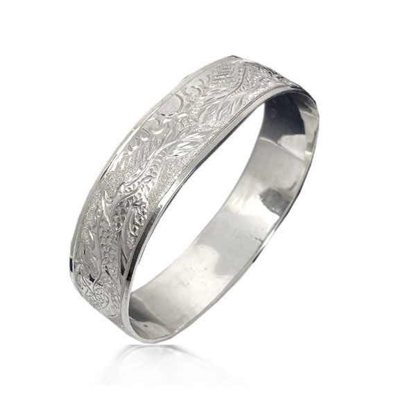 Sterling Silver Hawaiian Custom Made  Bangle with Dragon Design