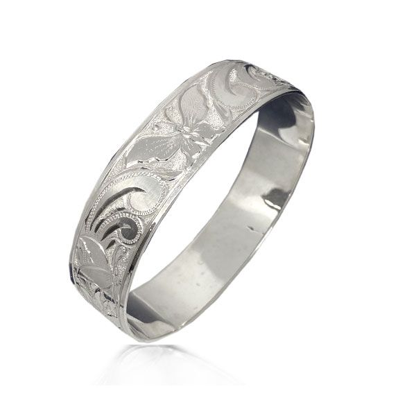 Sterling Silver Hawaiian Custom Made  Bangle with Royal Hawaiian Butterfly Design