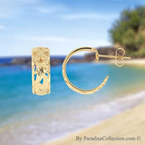 Gold Hawaiian Earrings