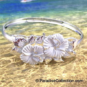 Sterling Silver Hibiscus Bracelet