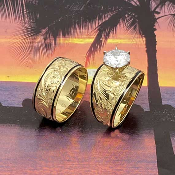 Gold Hawaiian wedding ring